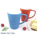 Les cuvettes en céramique bleu blanc promotionnels imprimés Accueil tasse à café tasse en céramique en vrac