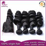 Bruto mayorista Virgen vietnamita cabello tejido con puntilla clausura