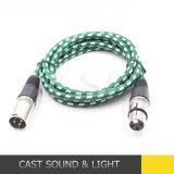 Kabel des Audiosignal-DMX mit 3pin XLR Verbinder für Mikrofon