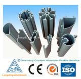 Perfis extrudados de alumínio ODM para a indústria utilizado material de construção