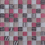 American Thickness 8mm Pink Crystal Cracked Glass Mosaic Tile