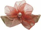 Curva artificial da fita das flores de Organza para o acessório do vestuário