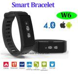Bracelet intelligent Anti-Détruit de Bluetooth avec l'étalage d'OLED (W6)