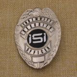 Custom Metal Soft Enamel 3D Detective Leather Wallet Police Badge