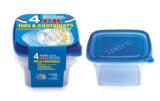 Wegwerpbare 3PCS 739 ml Food Grade Plastic Take Away voedselcontainer