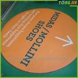 Publicidad de la etiqueta engomada decorativa interior del suelo de la renovación 3D de la promoción