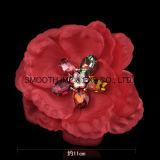Вспомогательное оборудование одежды DIY цветка ткани Handmade Multicolor декоративного Rhinestone шифоновое