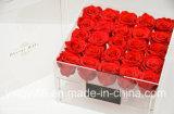 Cadre carré de cadre acrylique de fleur de cadeau du jour de Valentine