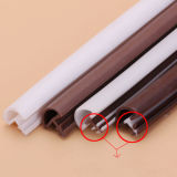 Protuberancia impermeable/perfil del caucho de silicón para la ducha, puerta de madera