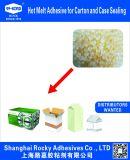 Pegamento caliente del derretimiento del SGS EVA para el rectángulo de papel de cierre del conjunto acanalado del cartón