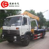 Dongfeng 4X2 8ton平面トラックによって取付けられるクレーンレッカー車