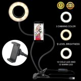 ホールダー360度のの熱いLED Selfieフラッシュライト電話