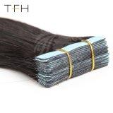 """ブラジルの直毛の皮の人間の毛髪の拡張16のWeft付着力の毛テープ"""" 18 """" 20 """" 22 """" 24の""""二重引かれた側面テープ1b/613#"""