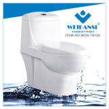 Керамические Siphonic Weidansi S-Trap одну деталь туалета (WDS-T6124)