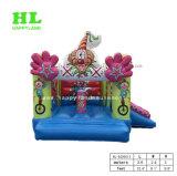 Clown-aufblasbares kombiniertes federnd Plättchen-Schloss für Kinder