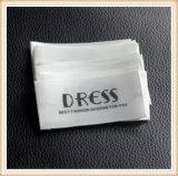 Custom engraçado vestido de corte térmico etiquetas de tecidos de algodão