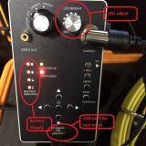 inspeção da tubulação de 20/30/40m com a mini câmara de vídeo de 17mm