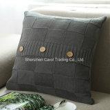 Il cotone ha lavorato a maglia l'ammortizzatore del sofà dell'ammortizzatore della manovella del cuscino della decorazione del cavo