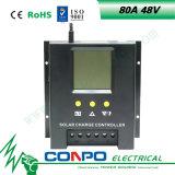 80A, 48V 의 LCD 지능적인 태양 관제사