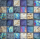 Het roestige Mozaïek van de Lei en het Mozaïek van het Glas voor Decoratie