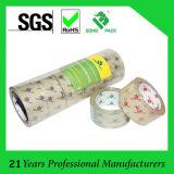 Transparente amarillento claro de cinta adhesiva de embalaje de BOPP cinta de lacre del cartón