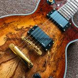 Качество пользовательских Lp электрическая гитара в карте прозрачный коричневый (НЛП-75)