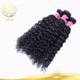 Bestes verkaufendes lockige Wellen-brasilianische Jungfrau-menschliches Vor-Geklebtes Haar