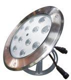 LED étanche IP68 12W de lumière LED sous-marine Piscine Vente chaude lumière