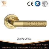 Zinc Alloy Interior Wooden Door Handle Rising one Pink (Z6072-ZR03)