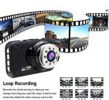 """Automobile registratore anteriore & posteriore di 1080P di HD di Built-in di GPS DVR del cruscotto della macchina fotografica, 3.0 """""""