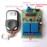 2channel Receiver con la rf Transmitter Kit per Gate o Door Open