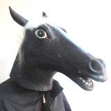 Het hete Grappige Hoofd Zwarte Paard van de Inham van het Latex van de Nieuwigheid van de Steun van het Theater van het Kostuum van het Masker Dierlijke Rubber