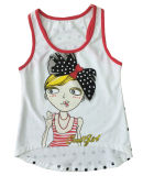 キャミソール(SV-029)が付いている子供の女の子のTシャツの美しい方法女の子のニットのベスト