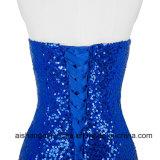 Purpurrote elegante formale Kleid-Nixe-Abend-Kleider