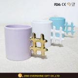 11oz покрашенное внутрь & кружка кофейной чашки ручки крепкая керамическая