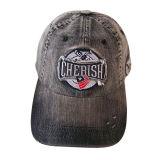 Chapeau lavé de jeans avec le logo #05