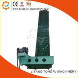 Le caoutchouc/PVC réglables en hauteur pour convoyeur à courroie d'inclinaison de la sciure, copeaux de bois, les boulettes