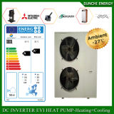 スロベニア25cの冬の家の床暖房100~350sqのメートルVillia 12kw/19kw/35kwはEviの新しいヒートポンプの分割された給湯装置の自動霜を取り除く
