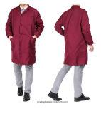 Promoción de 8 colores largo abrigo Ropa de trabajo de alta calidad