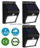 무선 방수 태양 운동 측정기 벽 램프 (RS2003-8-4PK)