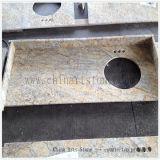 Controsoffitto dorato cinese della parte superiore di vanità della stanza da bagno del granito