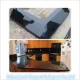Bancada em granito preto puro natural para decoração de cozinha