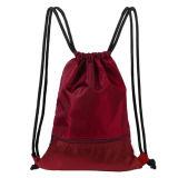 Sackpack coulisse du sac de sport avec des poches pour l'extérieur