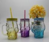 16oz 대중적인 모양 살포 색깔 식품 보존병 또는 유리 컵 또는 석수 유리
