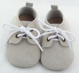 Sola macio couro Calçado Bebê (BH-CS105)