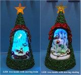 '' geleide Kerstboom 10 binnen met Huis en '' geleide Kerstboom 11 binnen met Kerstman voor de Decoratie van Kerstmis