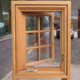 Ventana de aluminio de madera del marco del estilo de América con el operador inestable