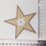 La moda Five-Pointed estrellas cordones bordados Estrás plancha sobre parche Accesorios
