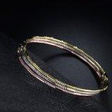 Brazalete de la joyería de la manera del cobre del chapado en oro para las señoras