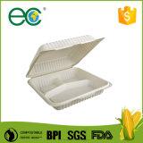 """"""" contenitore biodegradabile a gettare di hamburger dell'amido di granturco 6"""